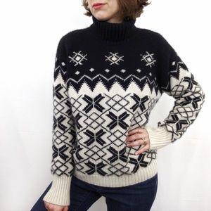 Vintage Fair Isle 100% Cashmere Sweater Large